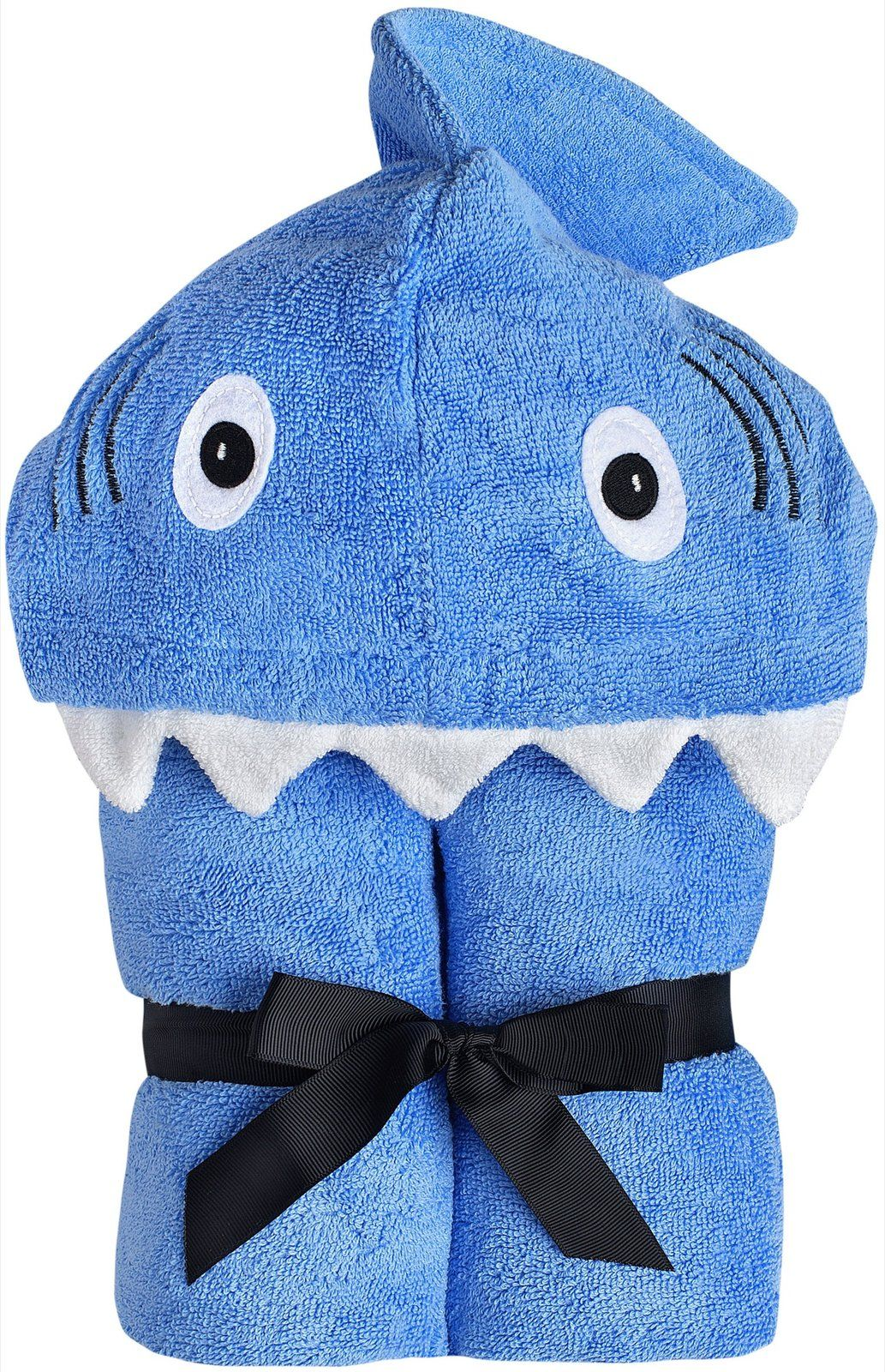 Yikes Twins Child Hooded Towel - Blue Shark - Free Shipping | So Sew ...