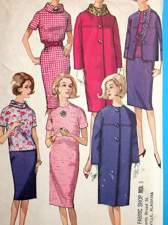 Simplicity dress pattern no vintage s size bust