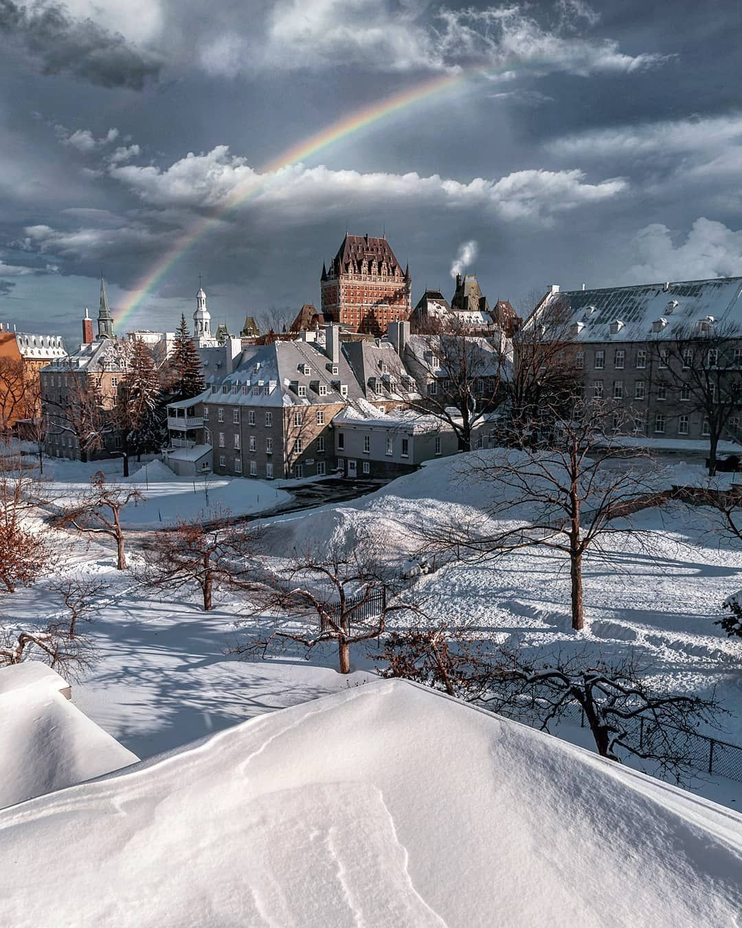 Winter Rainbow Quebec City Quebec By Emmanuel Coveney Manucoveney On Instagram Canada Travel Best Vacations Quebec City Canada
