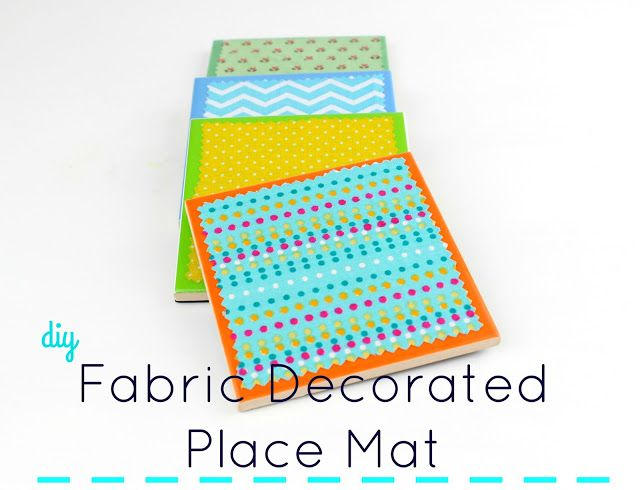 Diy Fabric Decorated Place Mat!!!   Decorate your monochrome place mats with fabrics!!! #decoupage #fabric #diy #craft #tutorial #howto #homedecor