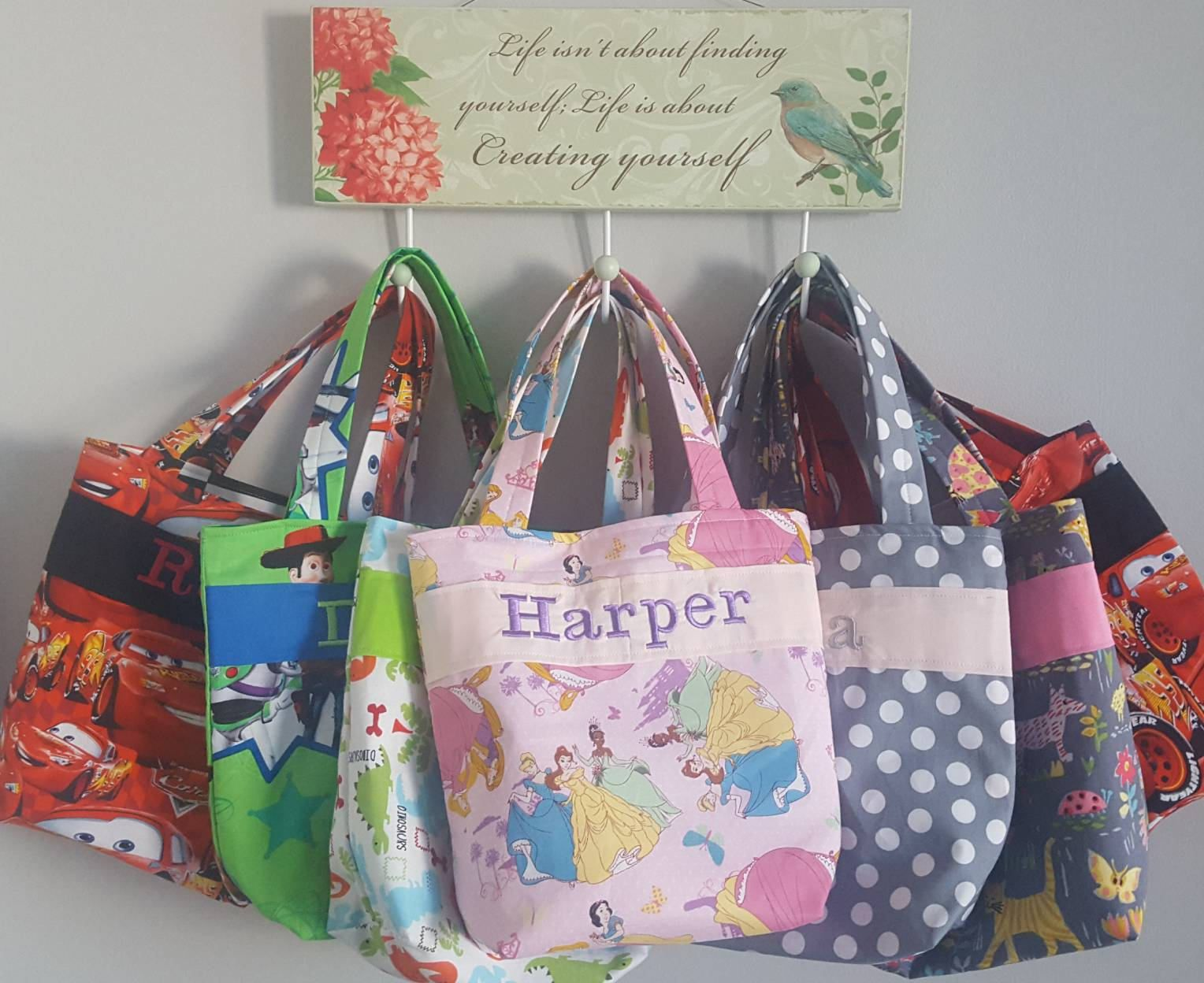 Flower Girl Gift Personalized Tote Bag Quiet Color Crayon Roll Bride Wedding Design Your Own 100s Fabric Choices Alphabet