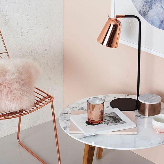10 Ideias Milenares Cor De Rosa Para Sua Casa Sonhadora Rose Gold Bedroom Rose Gold Rooms Marble Room