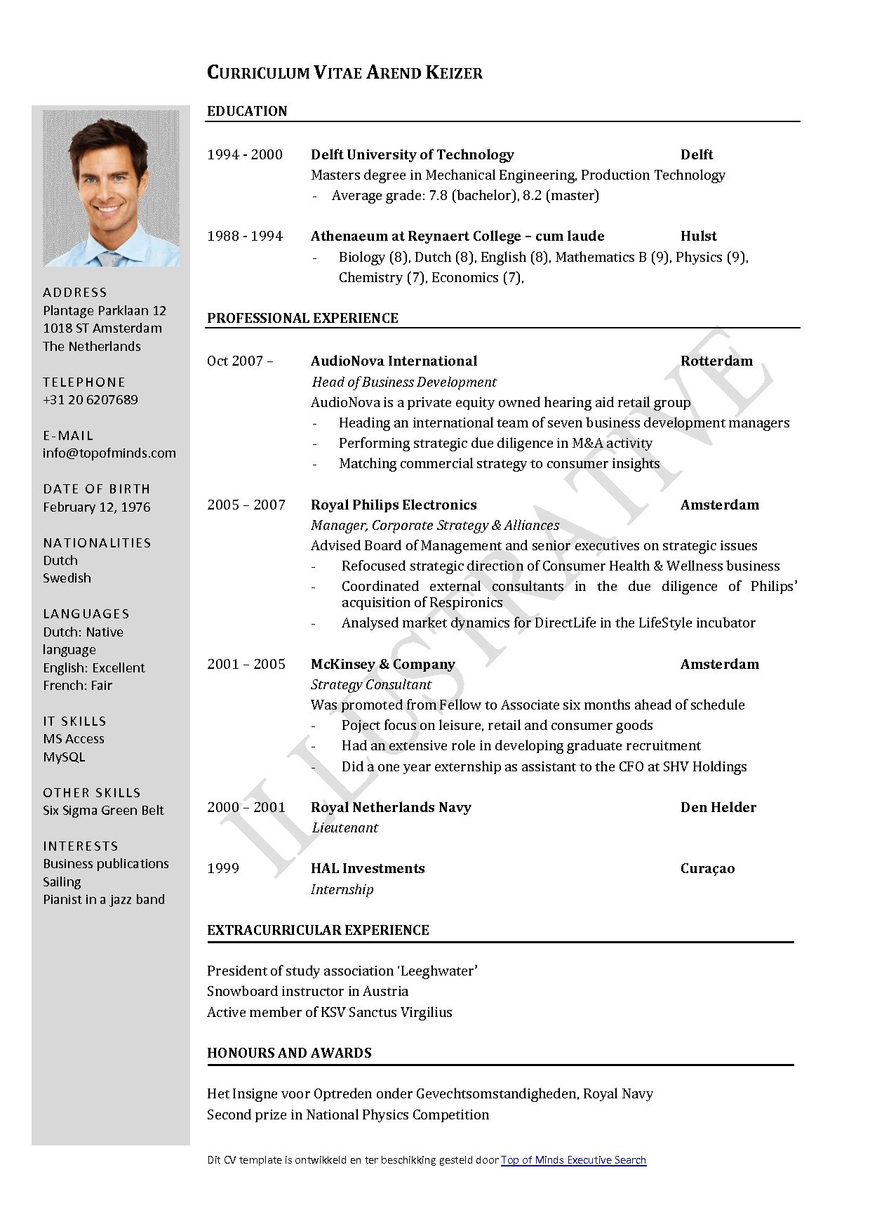 Free Master Resume Template Engineer Open Office Prepossessing