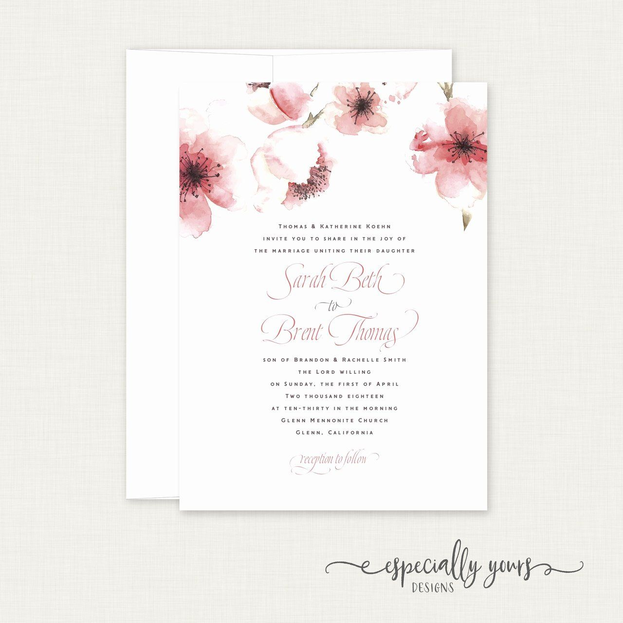 Cherry Blossom Invitation Template Free Awesome Cherry Blossoms