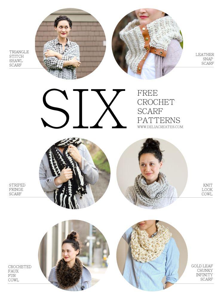 Six Free Crochet Scarf Patterns $80 Lion Brand Yarn Giveaway | Board ...