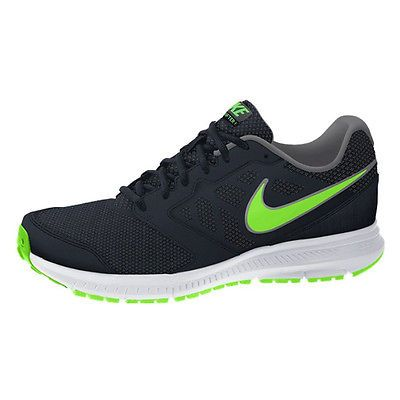 ee0d8aaa405e Nike Downshifter 6 Mens 684652-023 Black Green Athletic Running Shoes Size  12