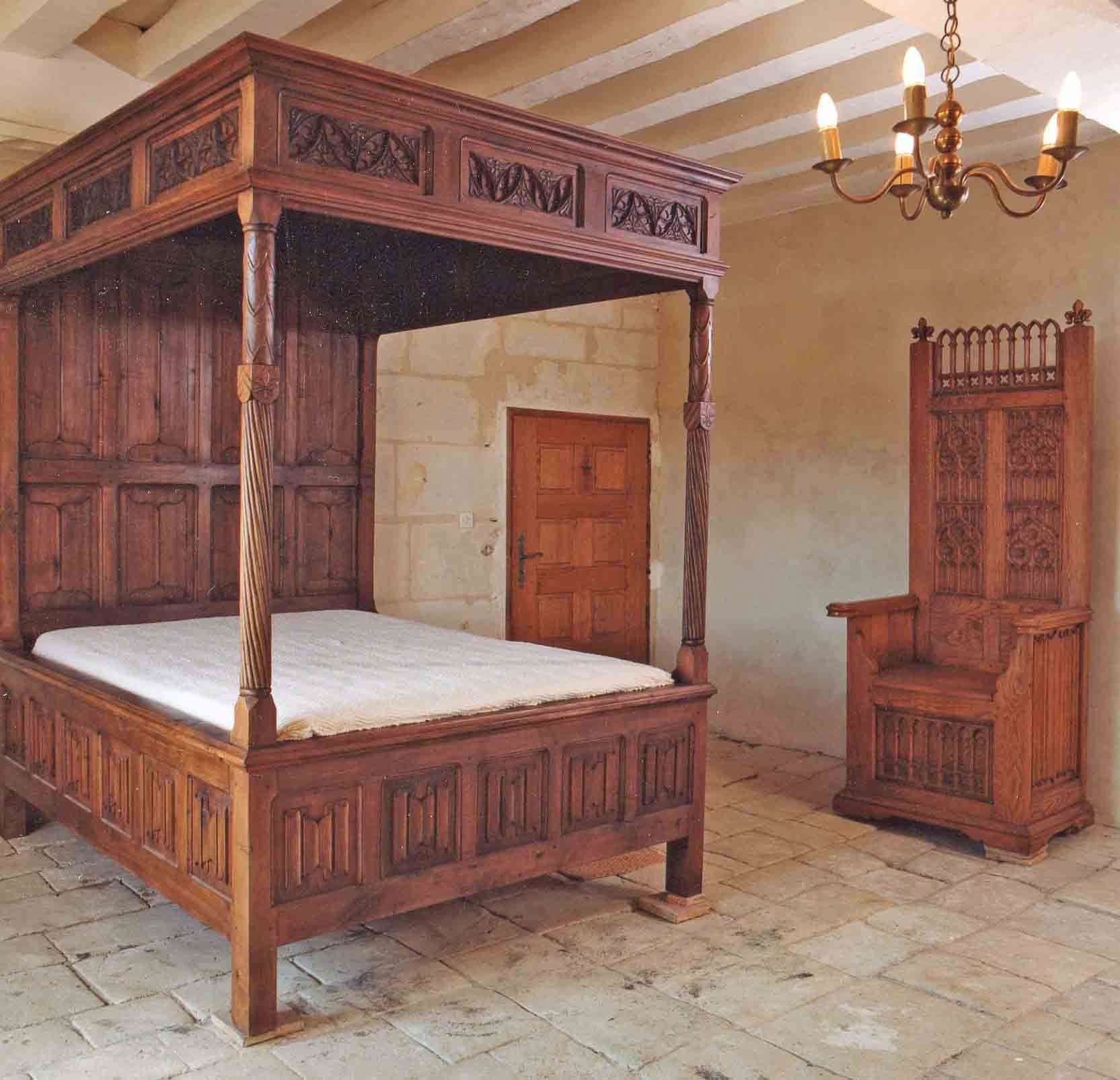 Medieval canopy bed google search dream home for Gothic style beds for sale