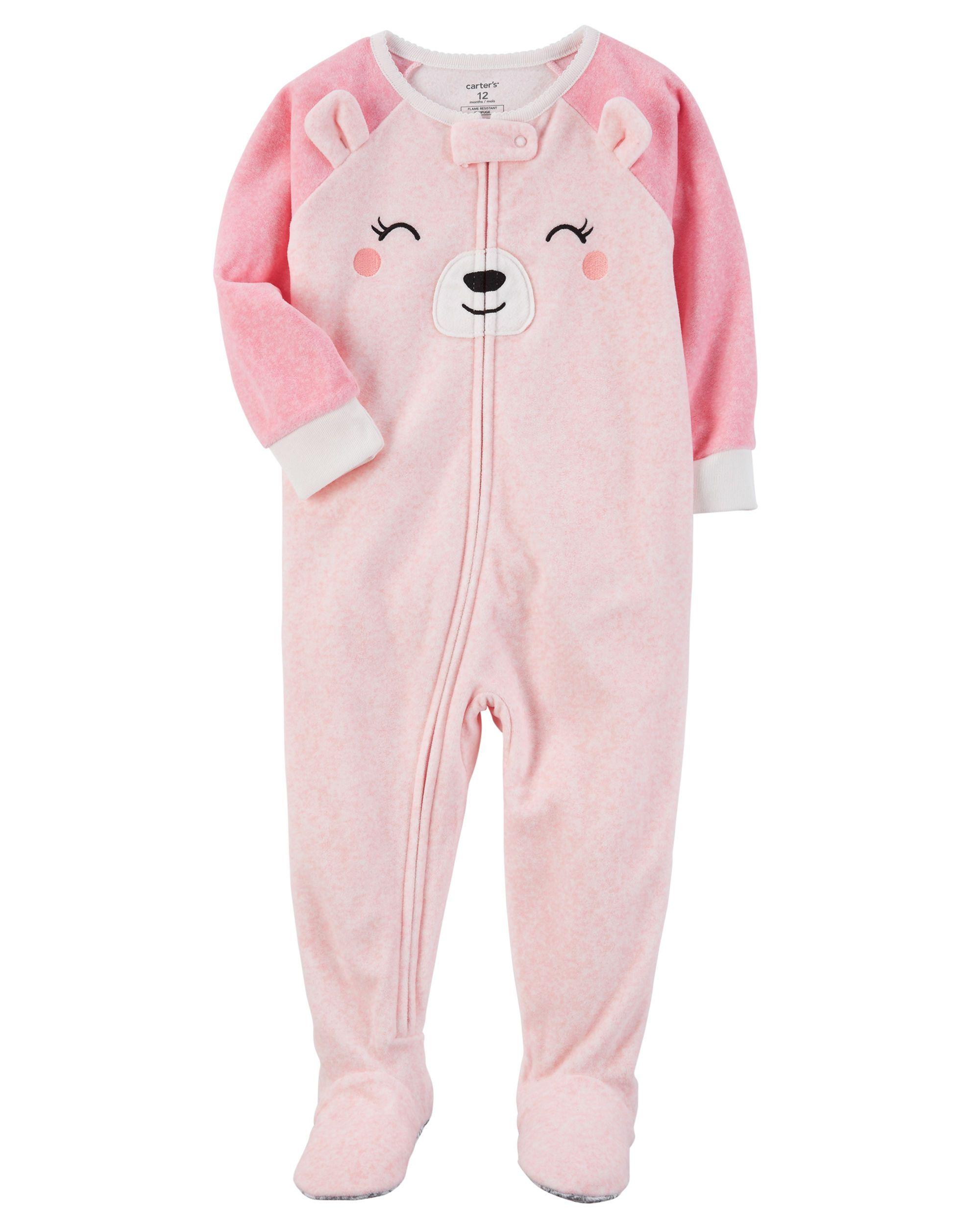bc2d8b805 1-Piece Bear Fleece PJs