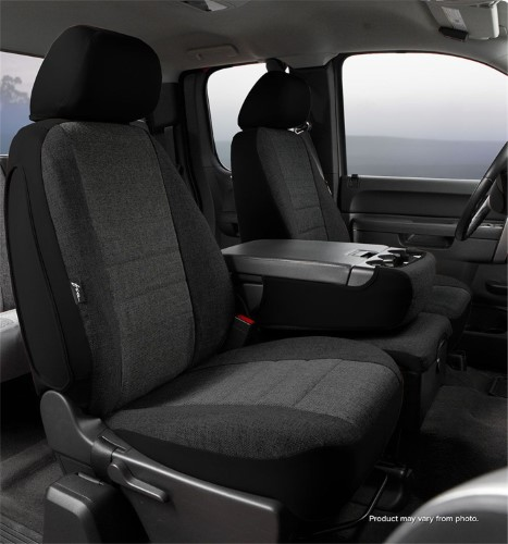 Fia OE37-27 GRAY Custom Fit Front Seat Cover Bucket Seats Tweed, Gray