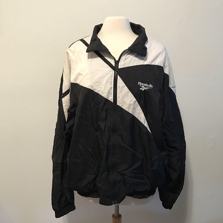 Jacket/jacket 80's / 90's REEBOK black/white size L 8rlS4f