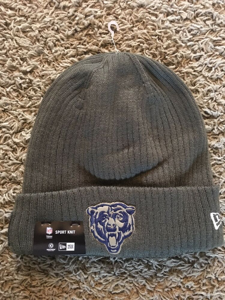 b0198840e CHICAGO BEARS 2018 NEW ERA SALUTE TO SERVICE NFL SPORT KNIT HAT CAP NEW NWT