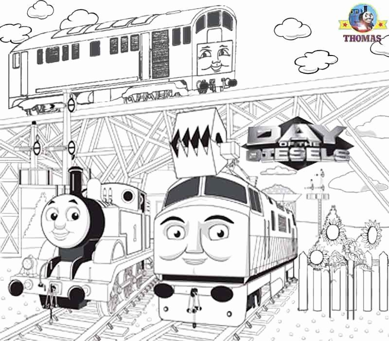 Thomas The Tank Engine Coloring Page Fresh Worksheets Free