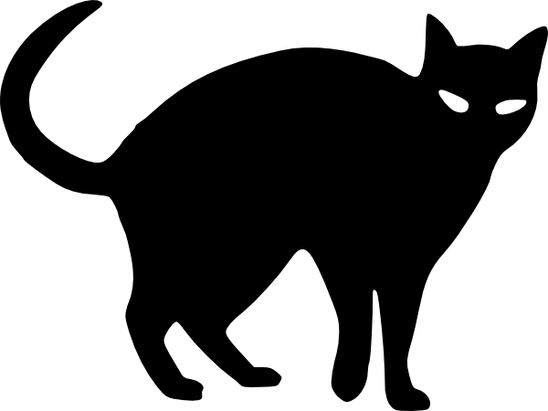 halloween cat outline cat silhouette clip art projects to try rh pinterest com cute halloween cat clipart cute halloween cat clipart