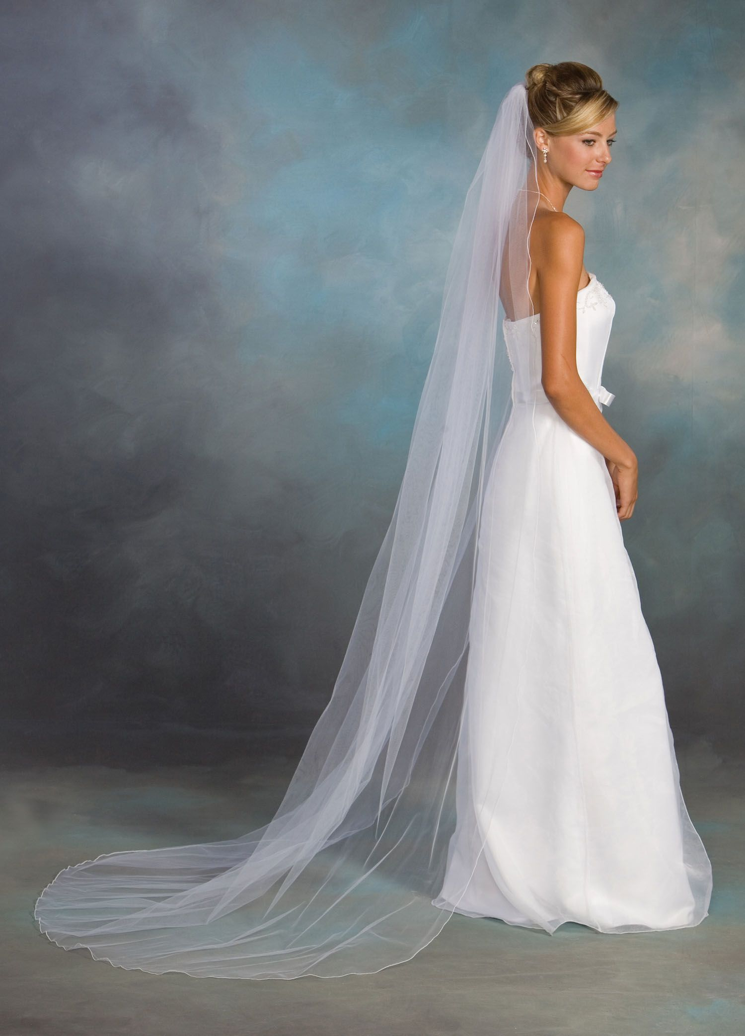 floor length veil no trim | wedding planning | cathedral