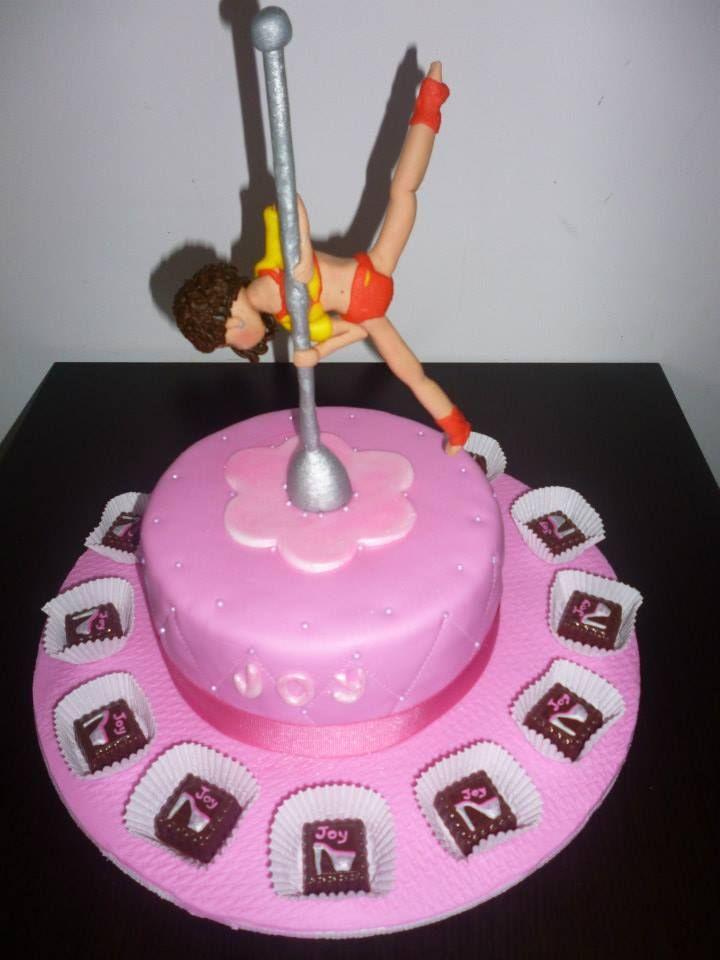 Athletic Pole Dancer On The Cake Pole Dance Cake Cake