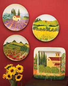 landscape wall plates | Dishes, Glassware & Cookware | Pinterest ...