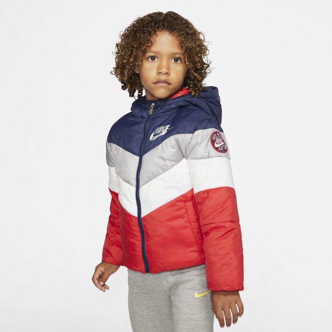 Nike Little Kids Puffer Jacket Nike Cloth Puffer Jackets Jackets Navy Fashion [ 1080 x 1080 Pixel ]