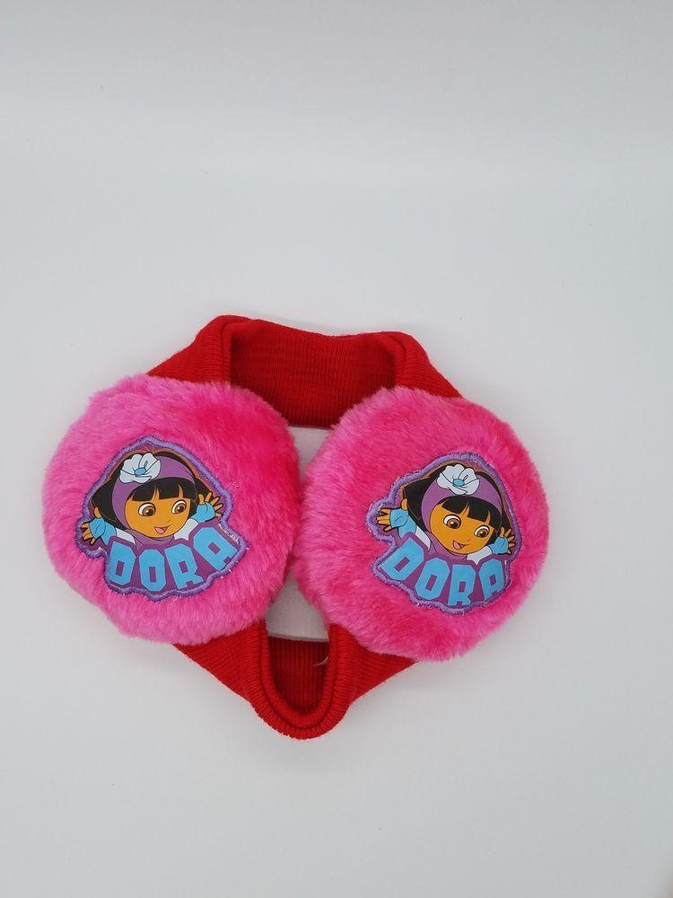 ad76348d576 DORA THE EXPLORER Toddler Girls Winter Ear Muffs Red Rose Pink Nickelodeon   fashion  clothing