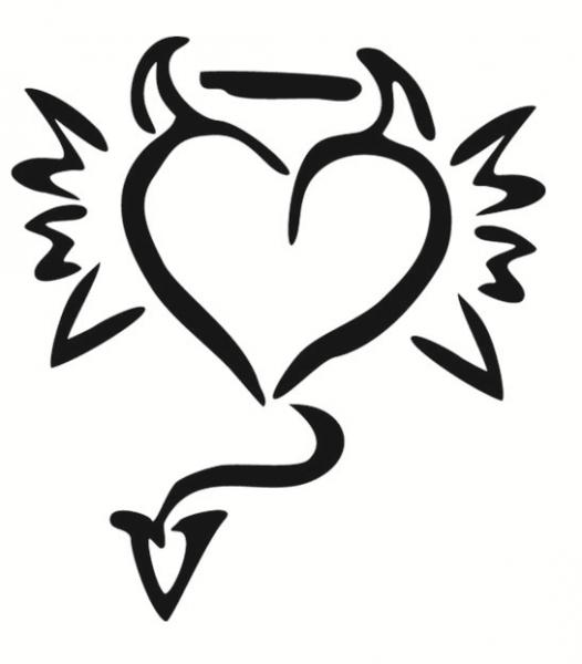 hartje duivel hart tatoeage ontwerpen hart tekening