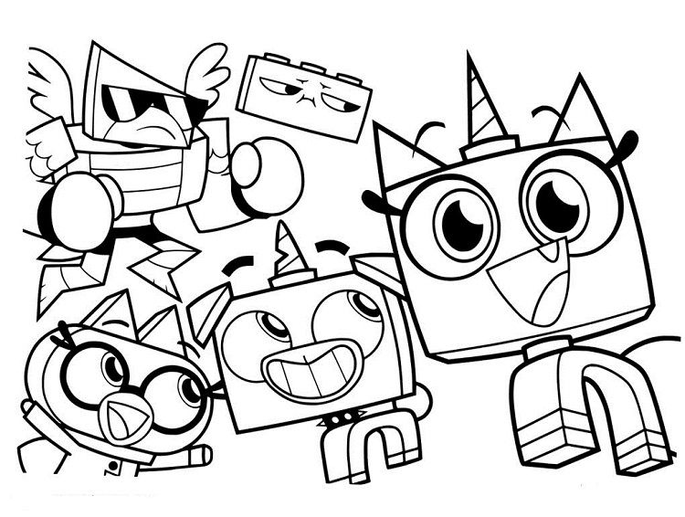 Unikitty Coloring Pages Free Printable Coloriages