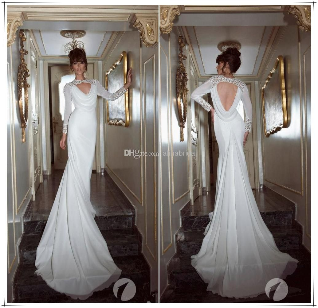 Wholesale Backless Wedding Dress - Buy New 2014 Backless Wedding ...