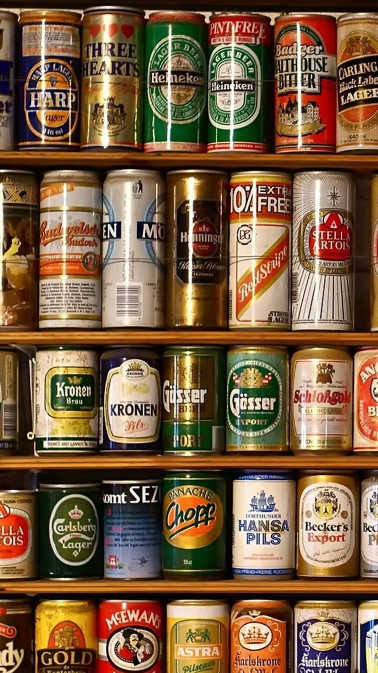 Drink Olorful Beer Alcohol Cans Brands For Guys Heineken Collection HD IPhone 5 Wallpaper