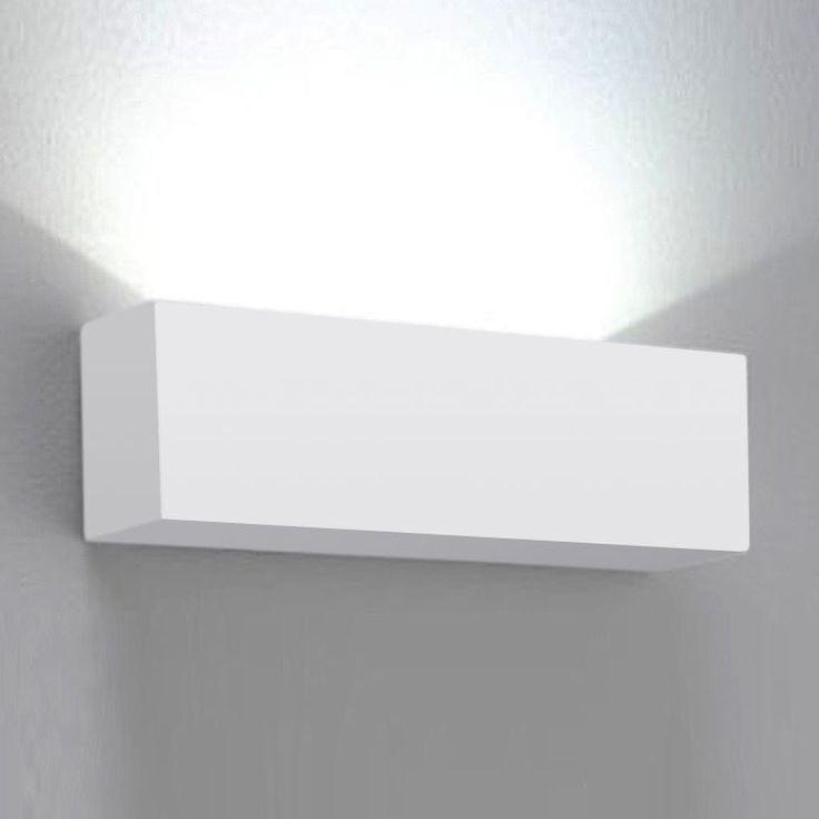 Modern Square White Ceramic Indoor Wall Uplighter Up Light Fitting .
