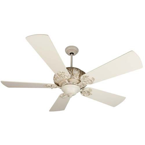 Antique White Ceiling Fans Distressed Shown With 54 Inch Premier