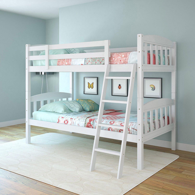 Apollo Snow White Bunk Bed Choose Size Kid Teen Rooms Bunk