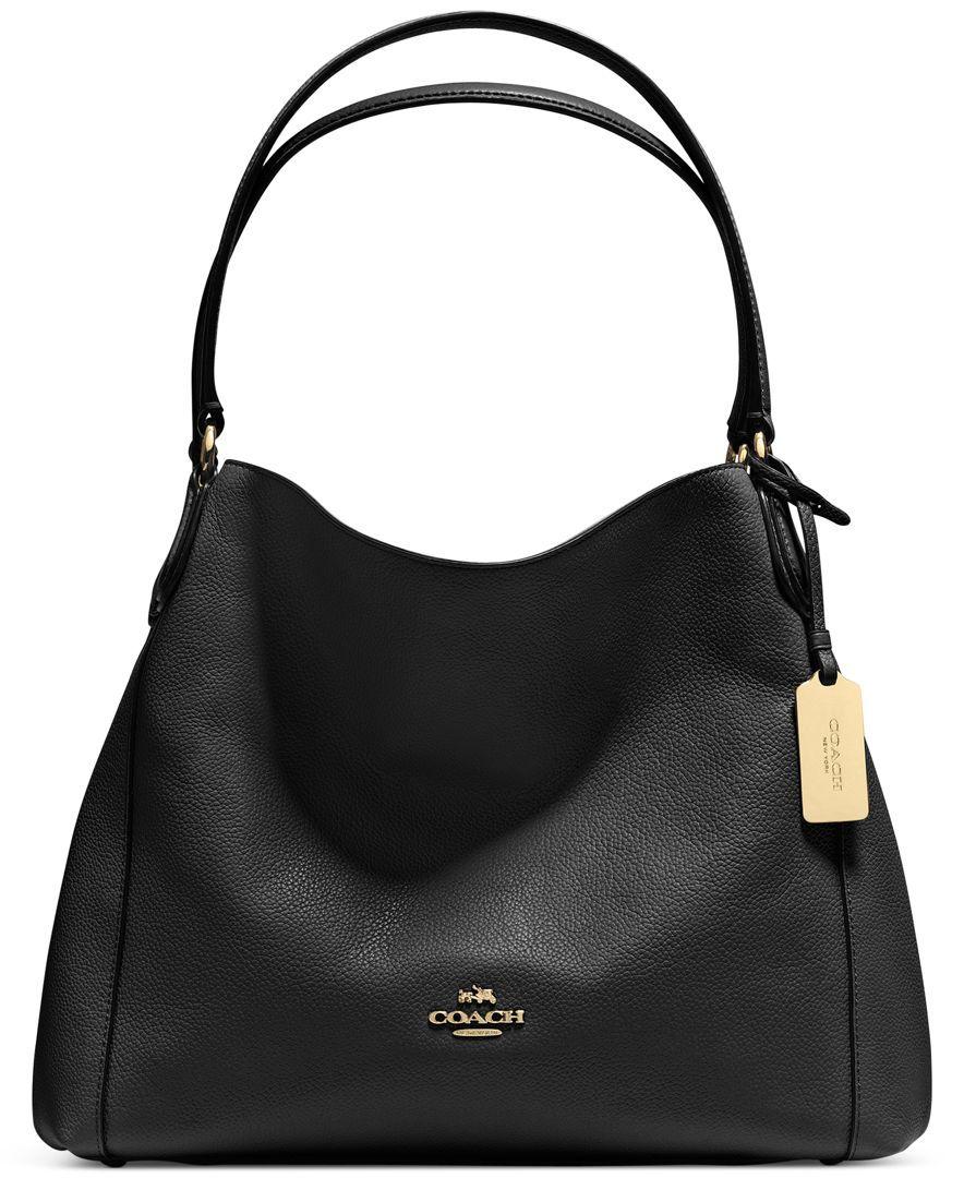 Shoulder Edie 31 The Refined Tan Pebble Coach In Bag LeatherLove pMSUzGqV