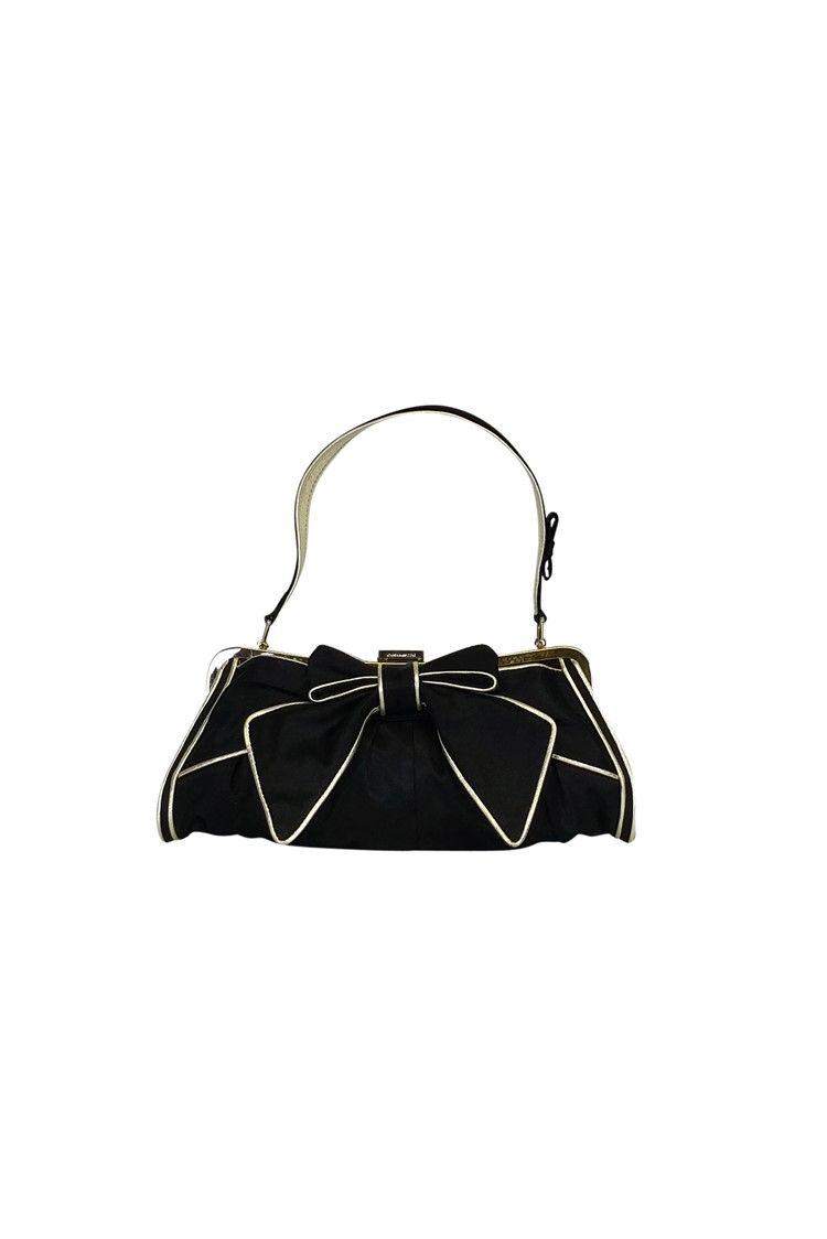 083b2aba61d7 Karen Millen - Black & Gold Bow Purse   Pretty Little Extras   Bow ...