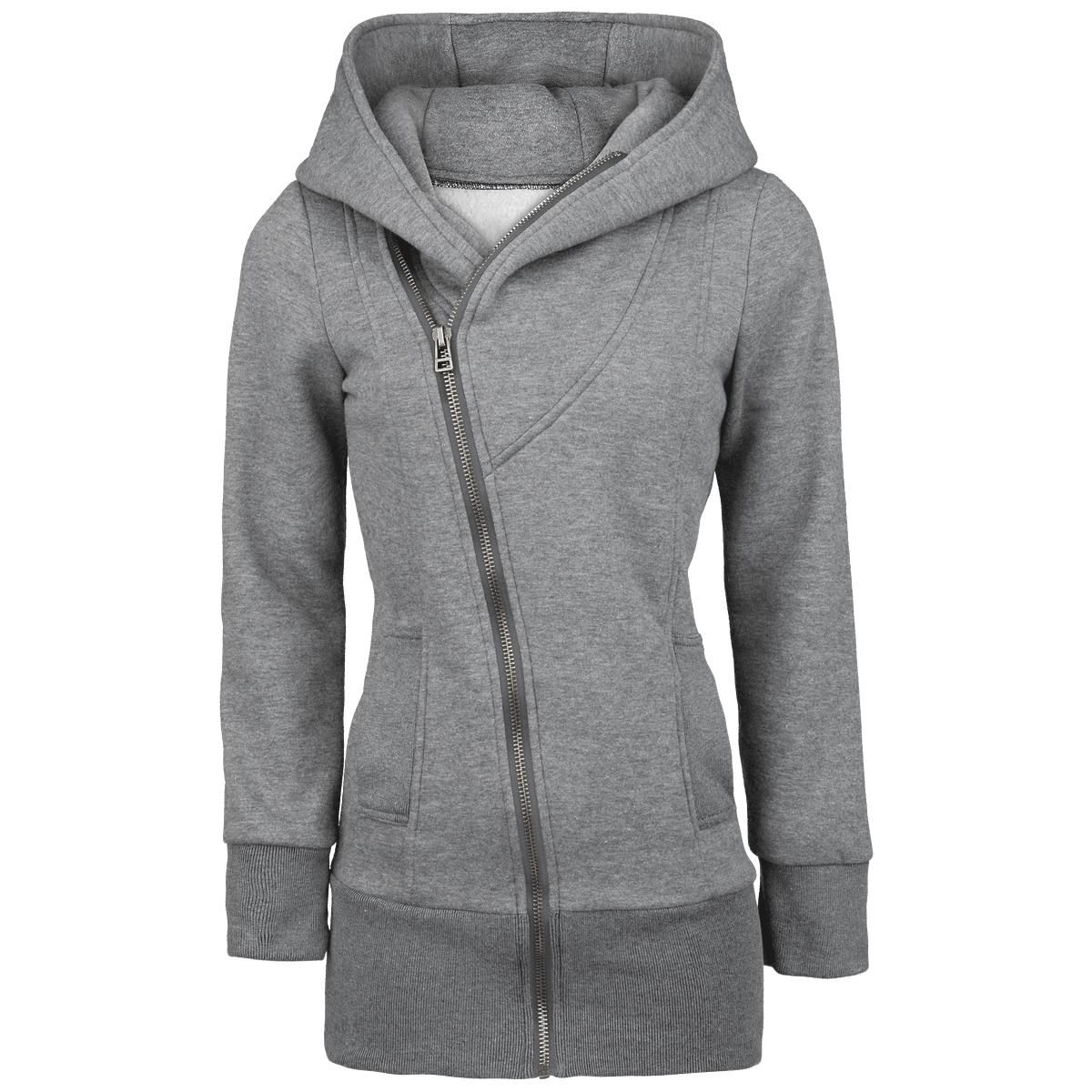 Extra Long Hooded Zip With Asymmetrical Zipper Broed