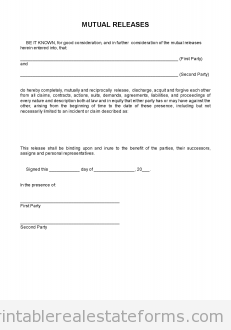 mutual release forms