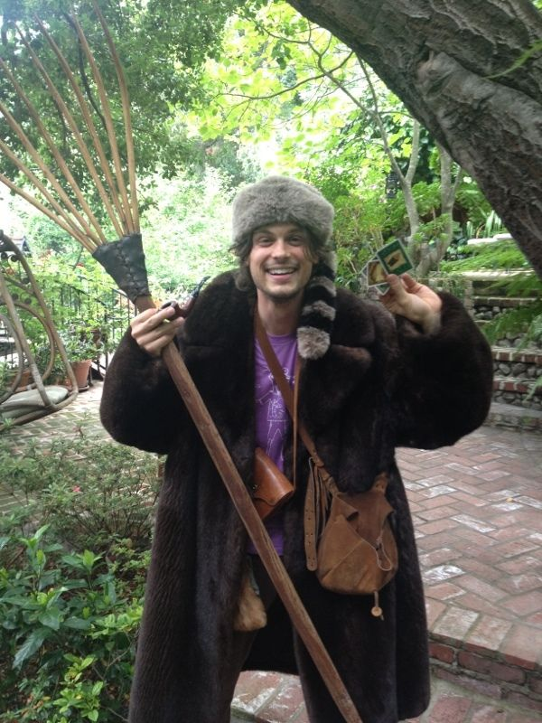 Matthew Gray Gubler's photo: as far as i'm concerned the only way to play settlers of catan is dressed as a settler of catan