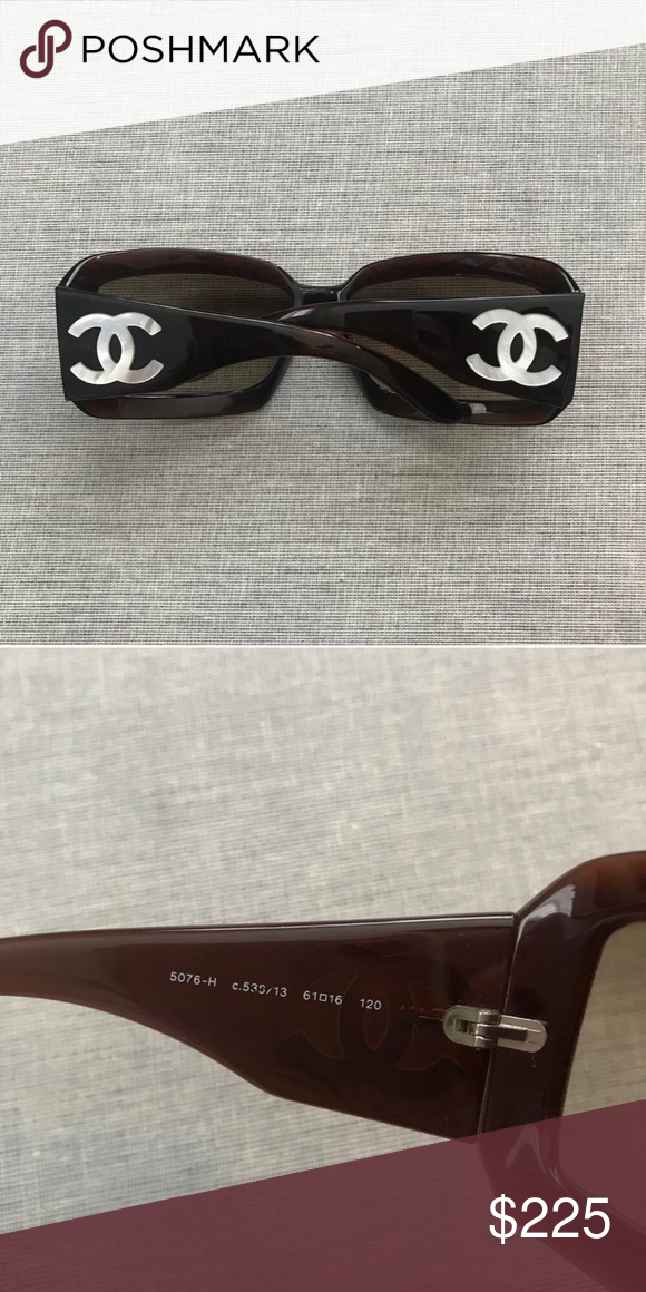 785c26e3e1cf2 Chanel sunglasses Brown Chanel shades  5076 with Mother-of-Pearl ...