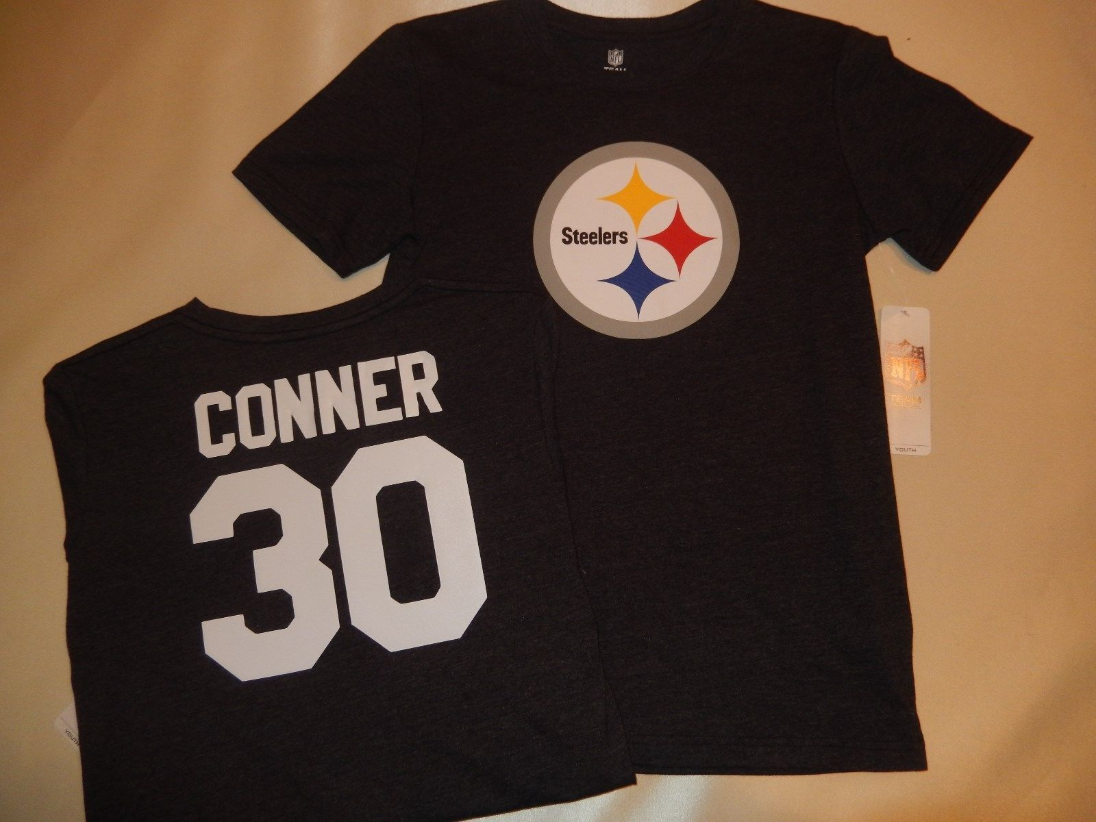 quality design 2266e 4cac1 71129-2 Youth Kids Pittsburgh Steelers James Conner Football ...