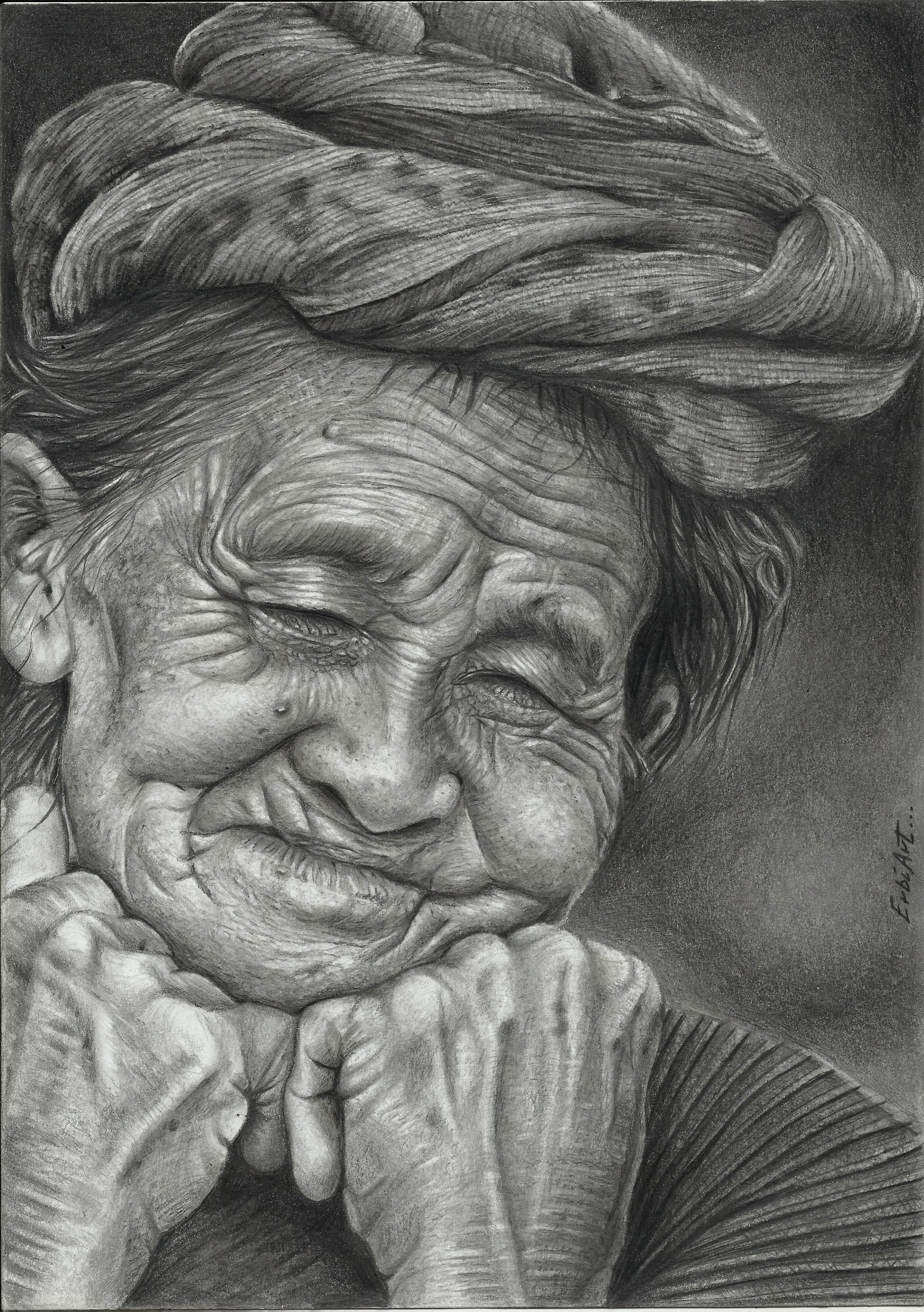 It's just a picture of Modest Old Hand Drawing Of Woman
