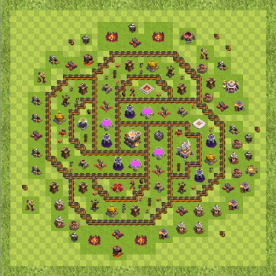 War Base Town Hall Level 11 By Hwl-Bloodeater (Geometri