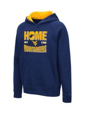 Colosseum Athletics Boys 8-20 Ncaa Wvu Mountaineers Pesto Hoodie - West Virginia - L #wvumountaineers