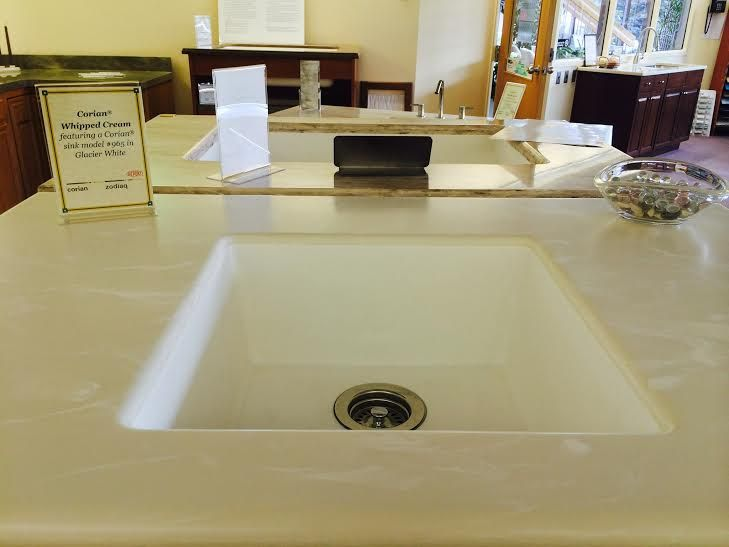 Corian Whipped Cream Featured With Corian Model 965 In Glacier