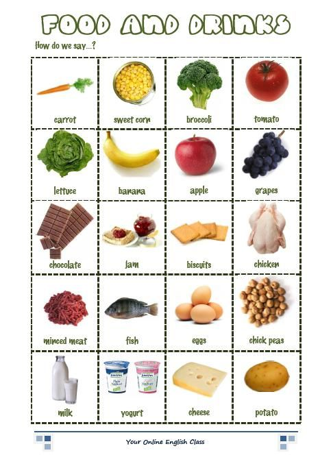vocabulary food and drink exercises english language pinterest