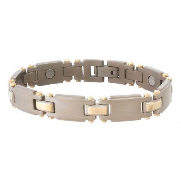 Sabona Anium Duet Magnetic Bracelet X Large 8 Wrist Size Xl Gold Satin