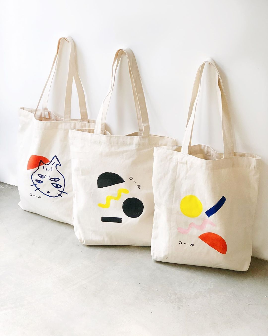 Download O M Object Matter Ceramic On Instagram Another Fun Project Block Printing And Hand Painting Tot Tote Bag Canvas Design Fabric Tote Bags Canvas Bag Design