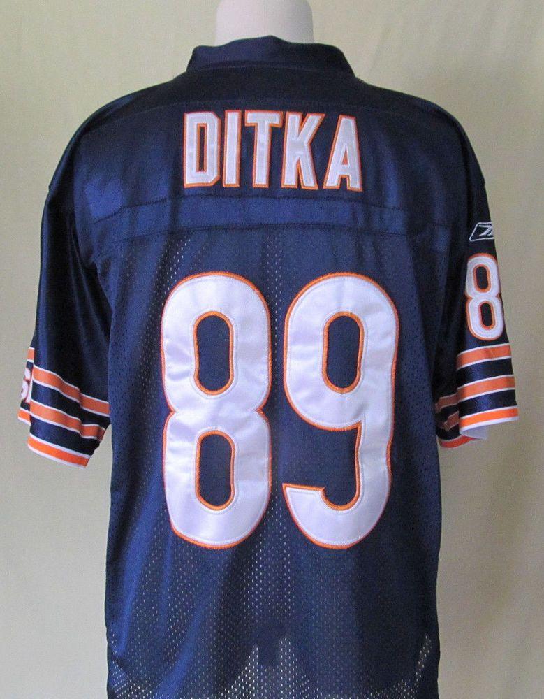2e71537a4 Mens NFL Chicago Bears  89 Mike Ditka Sewn Stitched Blue Reebok Jersey Size  48  Reebok  ChicagoBears