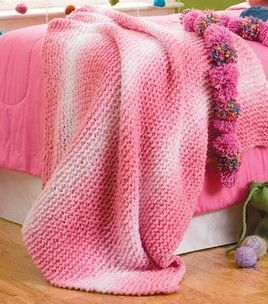 Rainbow Boucle Afghan : Knitting Projects : Shop   Joann ...