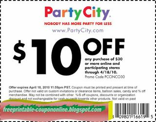 Party City Coupons Party City Party Printables Free