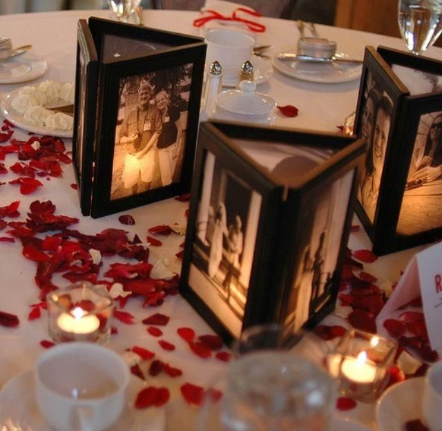 Picture frames without back, glued together with candle inside *)