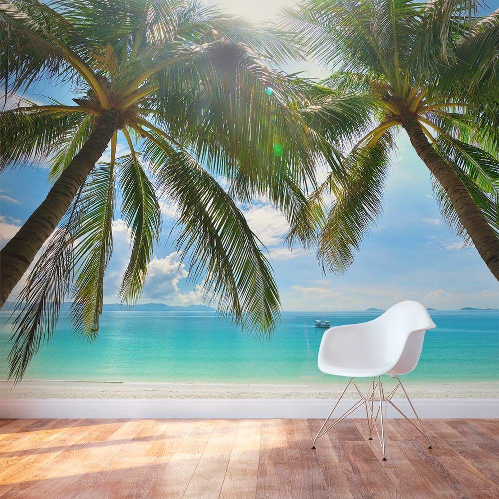 Island Beach Scenes: Tropical Beach Paradise Wall Mural