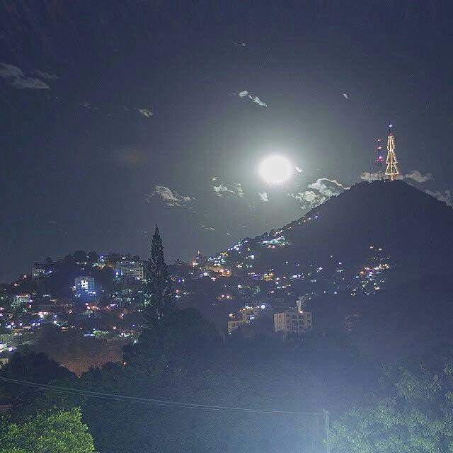 La luna y el pinito de acapulco