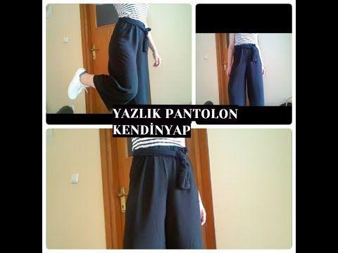 Esofman Dikimi Bol Pantolon Dikimi Kendin Dik Youtube Pantolon Kadin Pantolonlari Palazzo Pantolon